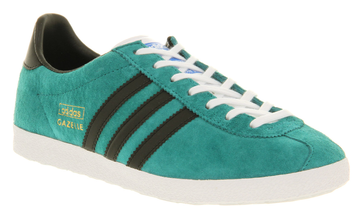 adidas Gazelle Og Turquoise White Gold Exclusive in Green for Men ...