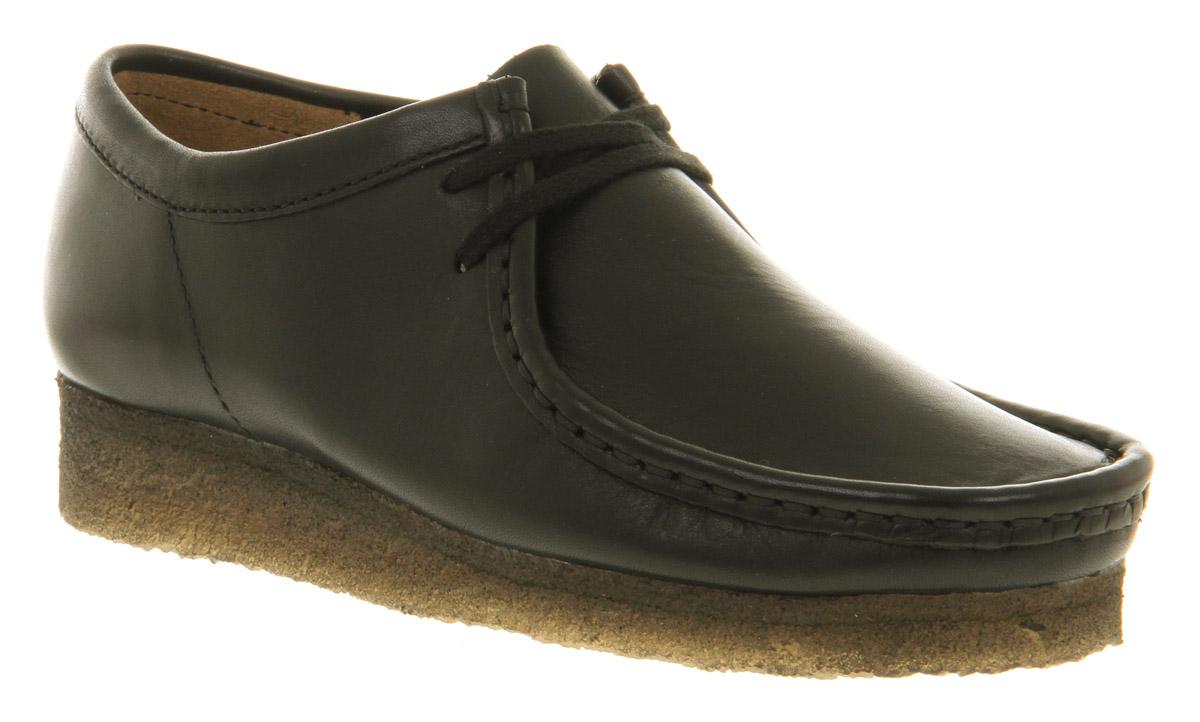Lyst - Clarks Wallabee Black Leather in Black 244894eb4b