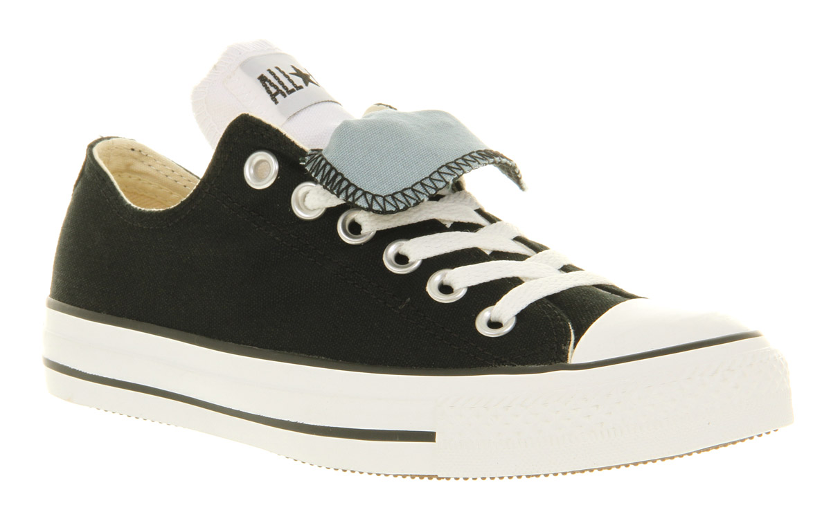 944caa2f0dce73 Lyst - Converse Ox Low Double Tongue Black Lead St in Black for Men
