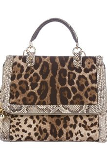 Dolce & Gabbana Animal Print Bag - Lyst