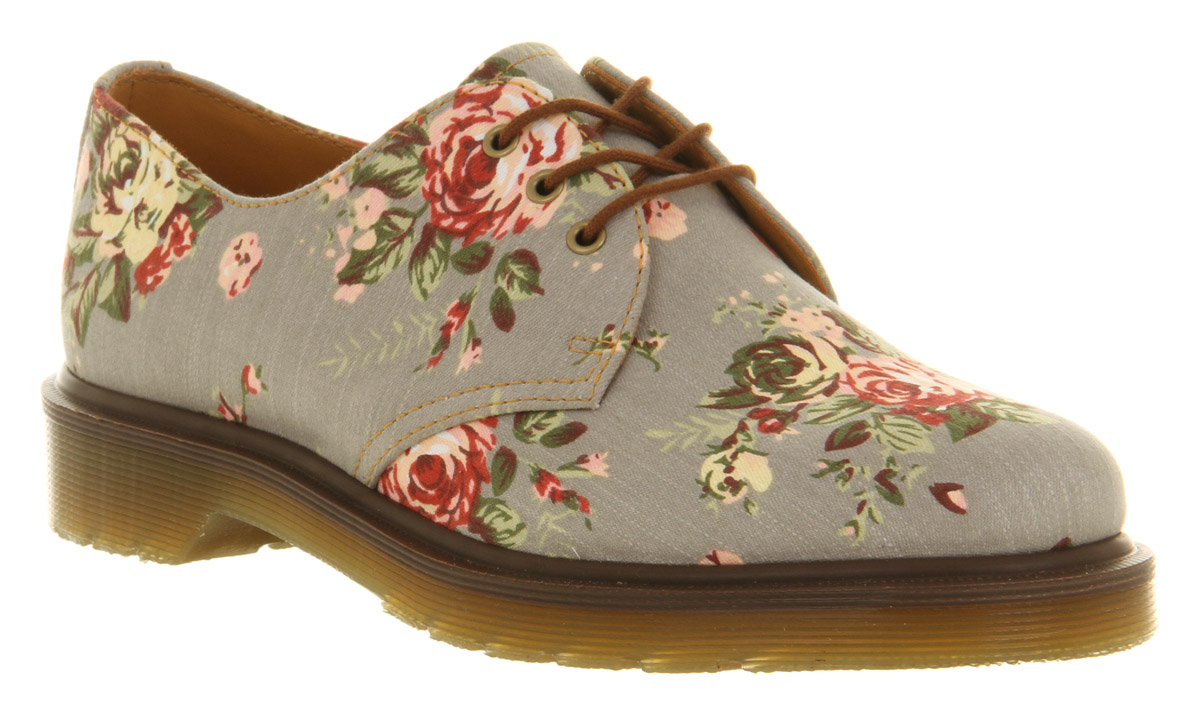 New 07 Dr Martens Shoes Chic Fashion Boots Trendy Flowers Floral