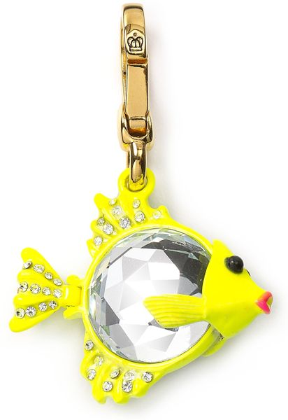 Juicy Couture Gem Fish Charm in Gold