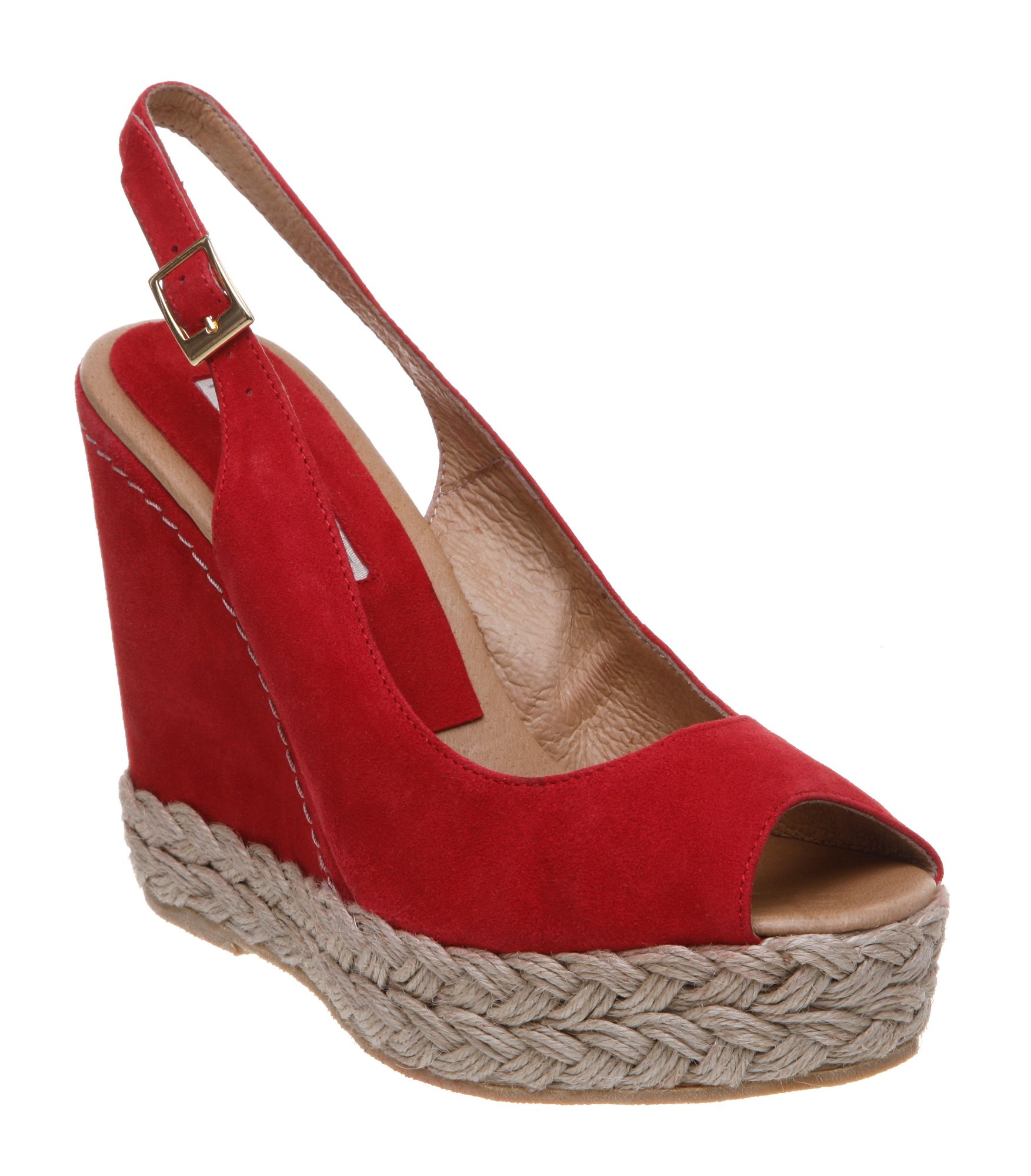 Pied A Terre Laurel P Simple Slingback Wedge Sandals In