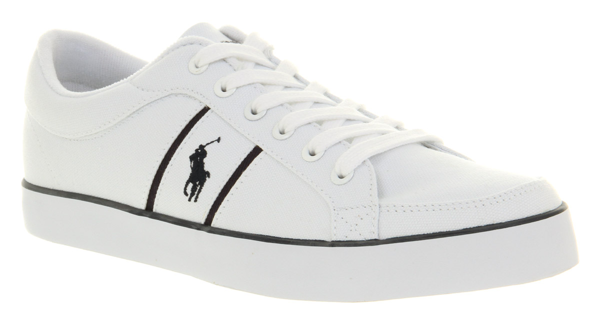 For Lauren White Pure Sneakers Polo Bolingbrook Men Ralph Canvas j3R4A5Lq