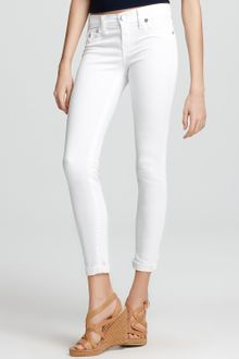 True Religion Jeans Serena Mid Rise Super Skinny Legging Jeans in Optic White - Lyst