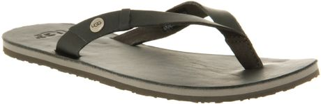 Ugg Ally Flip Flop Pewter in Black (pewter) - Lyst