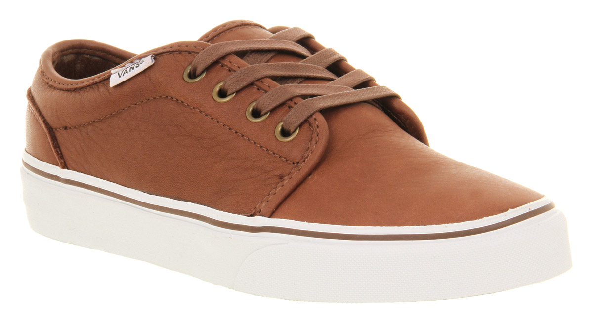 vans beige leather shoes