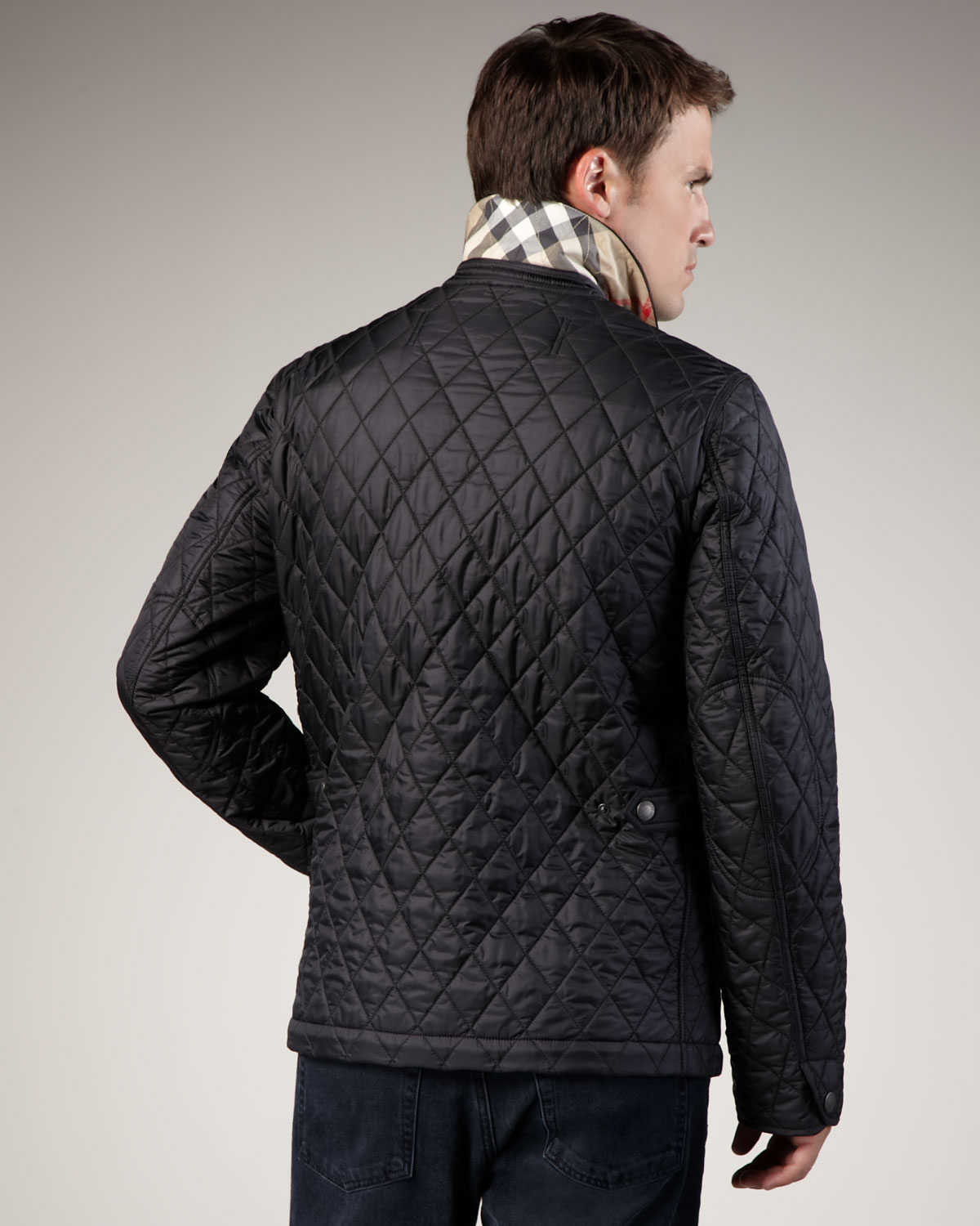 Burberry brit Classic Quilted Jacket in Black for Men | Lyst