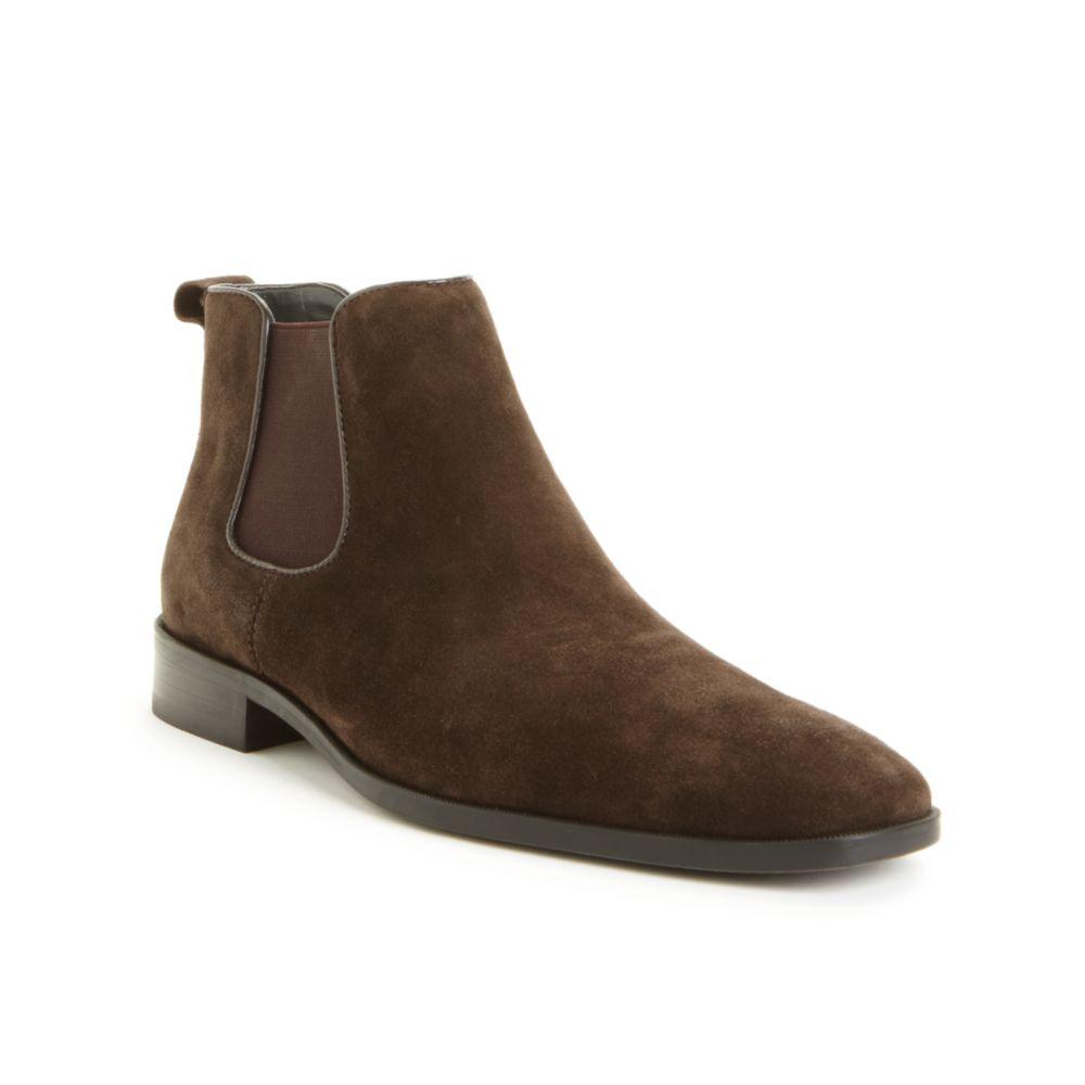 calvin klein garrison boots in brown for