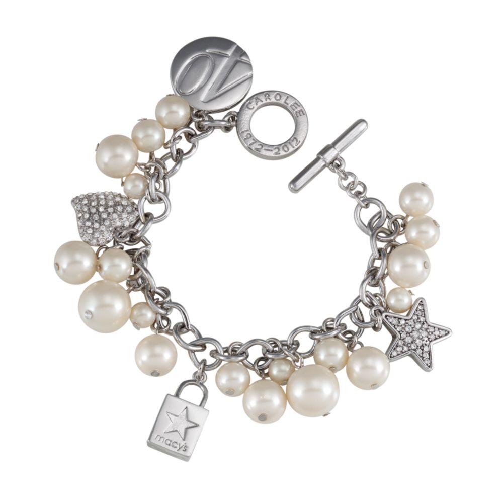 carolee macys charm bracelet in gold lyst