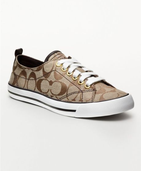 coach khakichestnut suzzy sneaker product 1 3443078 832050731 large