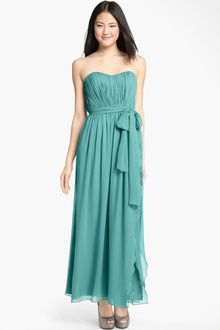 Donna Morgan Sweetheart Ruched Chiffon Gown - Lyst