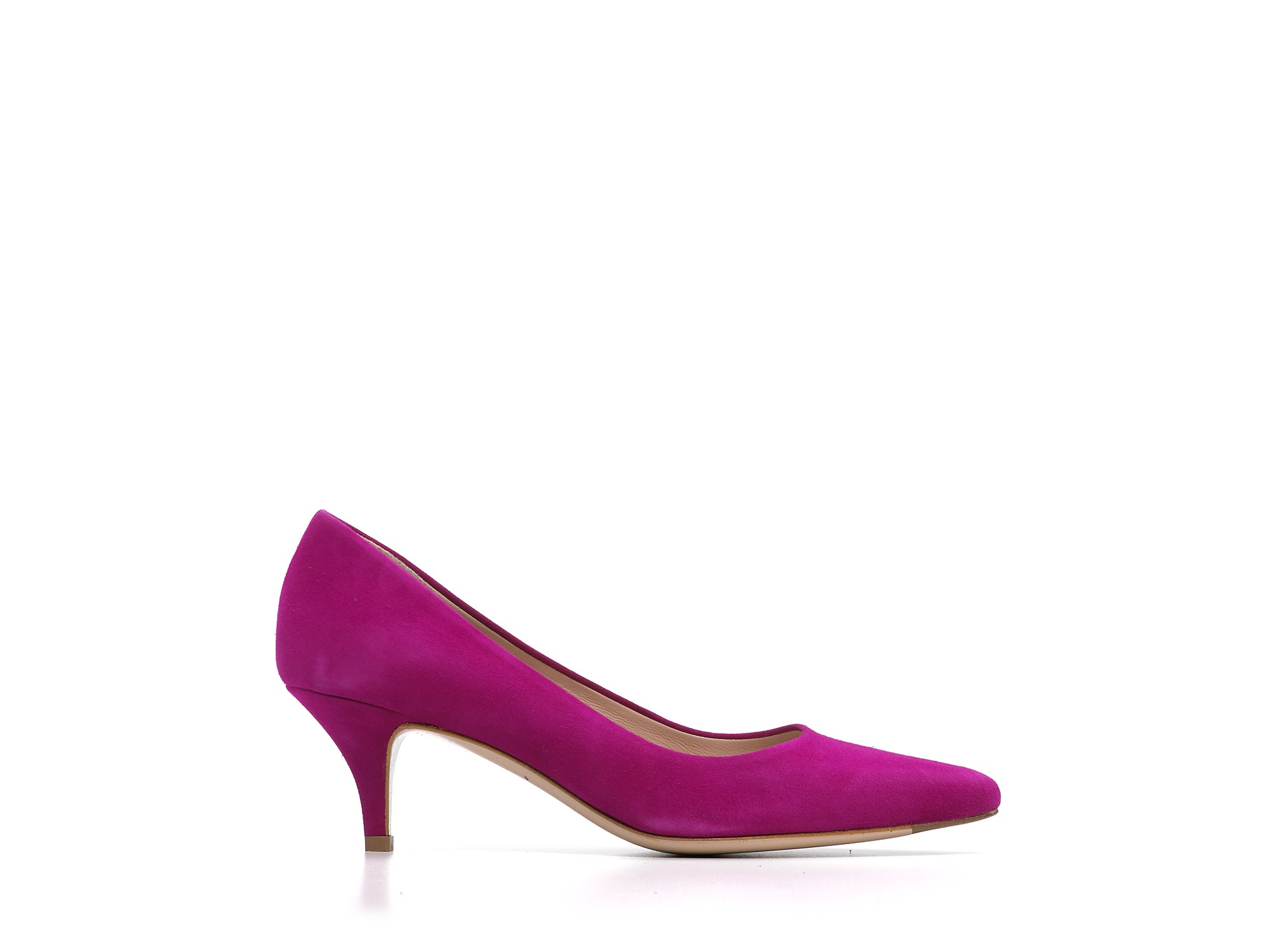 Ferragamo Pumps Dalia Kitten Heel in Purple | Lyst
