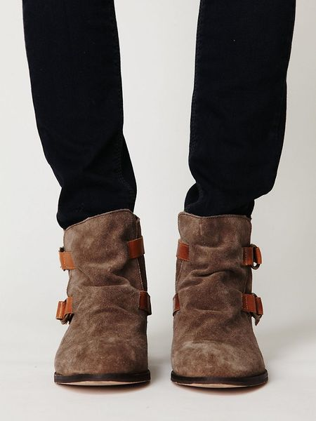 Free People Miguel Buckle Boot In Brown Lyst