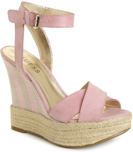 hue kambria wedge sandals in pink light pink lyst