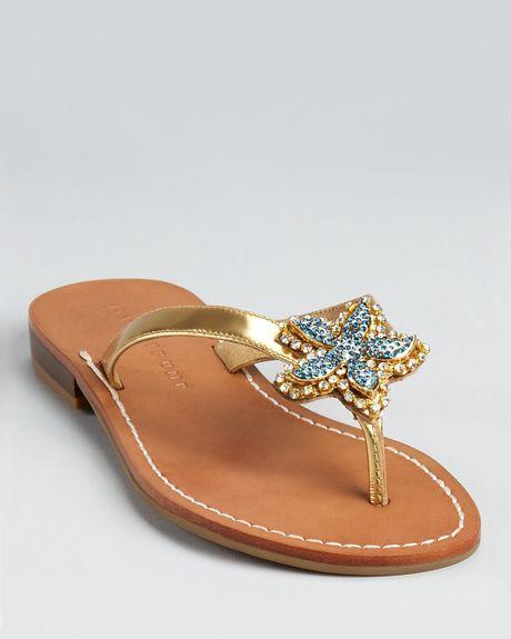 Ivanka Trump Sandals Pandra Starfish Flat In Brown Gold