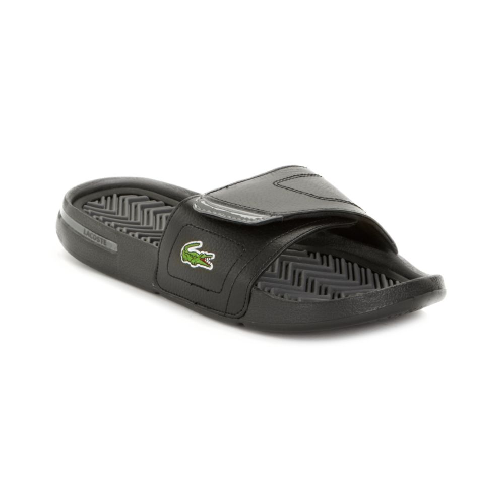 04784da87d8c Lyst - Lacoste Molitor Slide Sandals in Black for Men