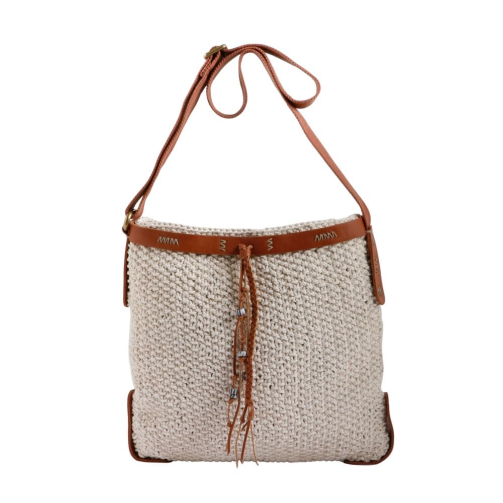 Crochet Crossbody Purse : Lucky Brand Ojai Valley Crochet Crossbody Bag in White (ivory) Lyst