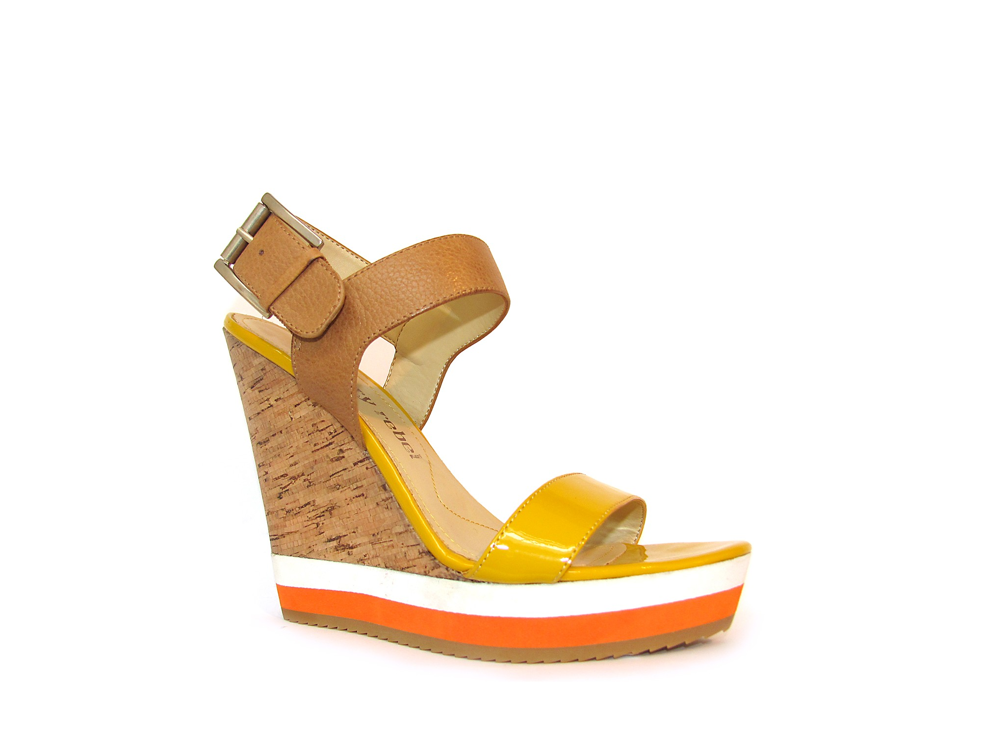 luxury rebel wedges in gray mustard saddle lyst