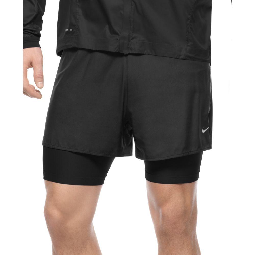 2 in 1 nike shorts mens