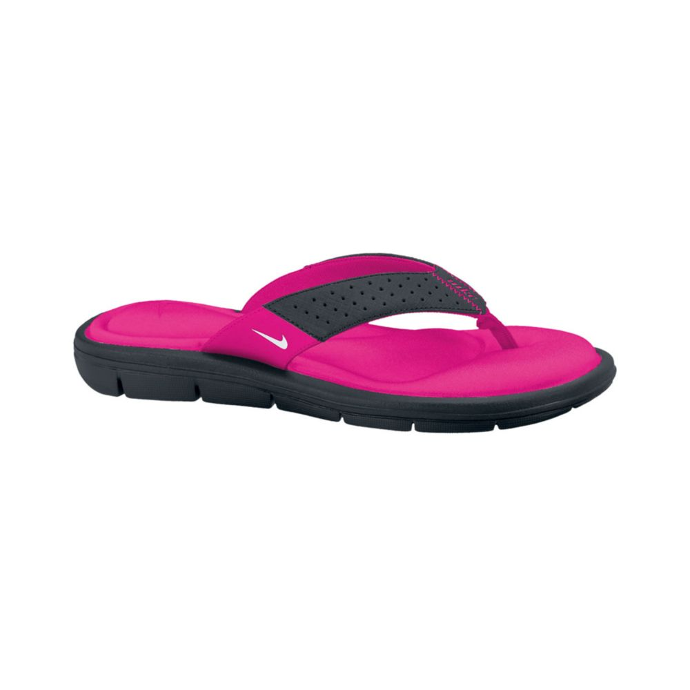 Nike Womens Comfort Thong Sandals From Finish Line In Black Blackwhite-Vivid Pink  Lyst-1898