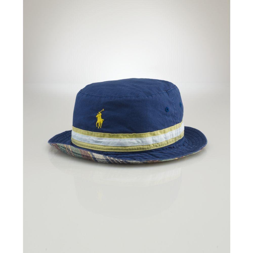 9f5beca50ed Lyst - Ralph Lauren Beachside Reversible Bucket Hat in Blue for Men