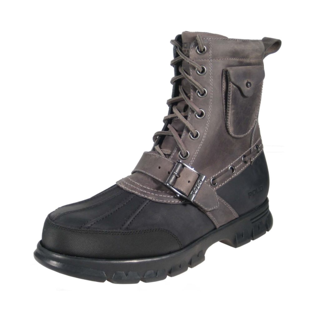 Polo ralph lauren Hamlin Lace Up Boot with Pocket in Black ...