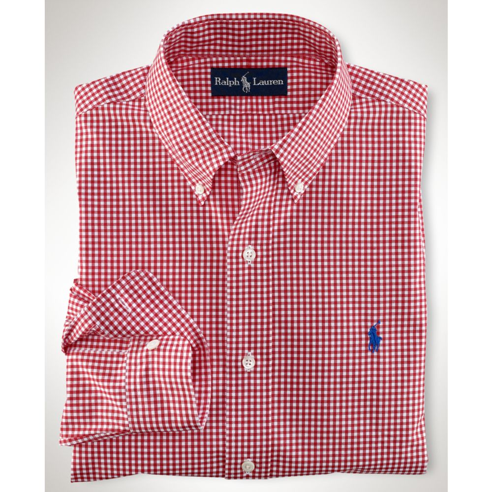 Big and Tall Big and Tall Classic Fit Gingham Poplin Shirt