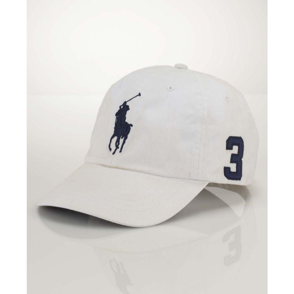 fb89004900b Lyst - Ralph Lauren Classic Big Pony Sport Cap in White for Men