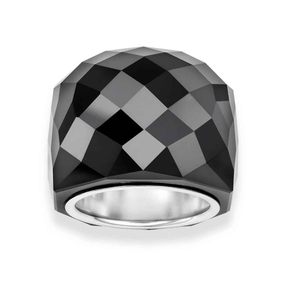 Lyst - Swarovski Jet Nirvana Ring in Black 8f2ff7826837
