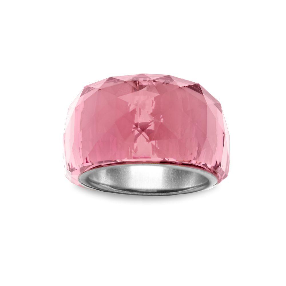 Swarovski Crystal Ring In Pink Rose Lyst