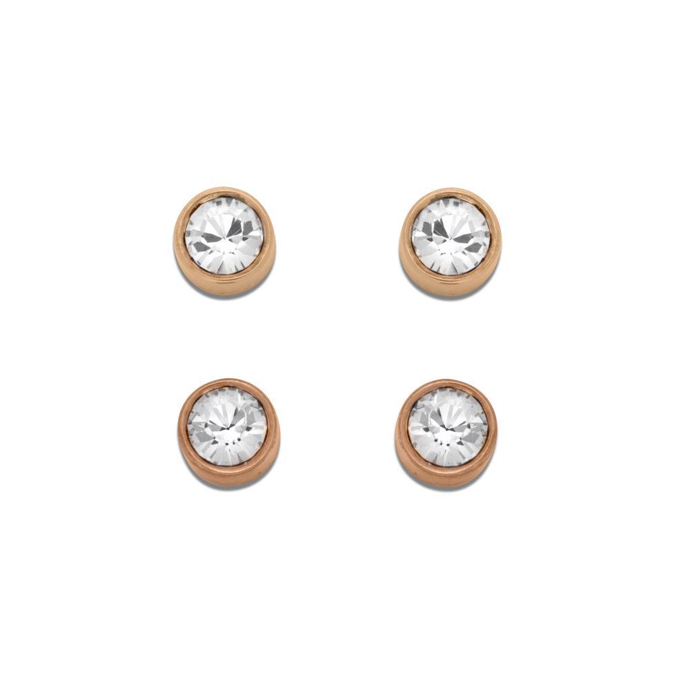 abbee1555 Swarovski Harley Pierced Stud Earring Set in Pink - Lyst