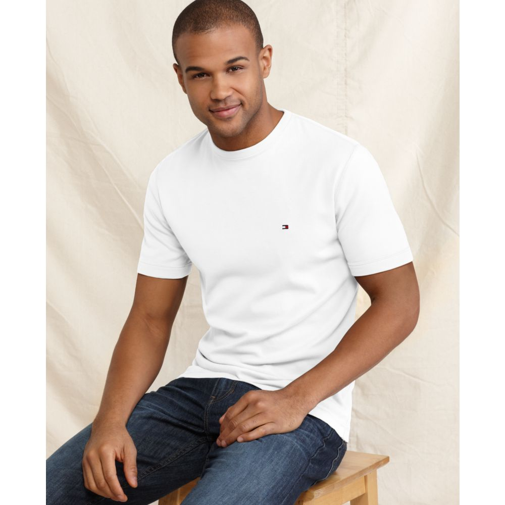 Tommy hilfiger american t shirt in white for men lyst for All american classic shirt