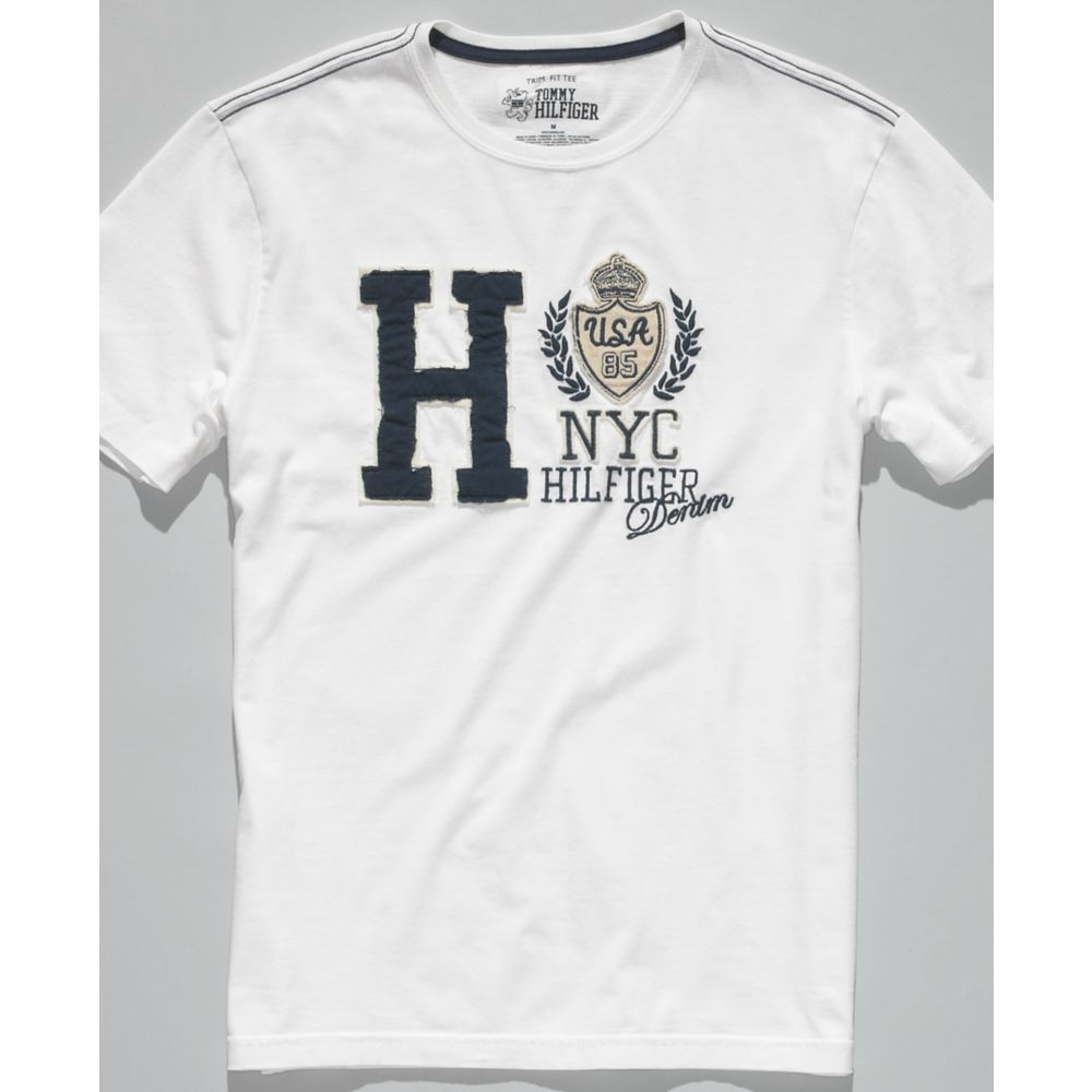 tommy hilfiger columbus t shirt in white for men lyst. Black Bedroom Furniture Sets. Home Design Ideas