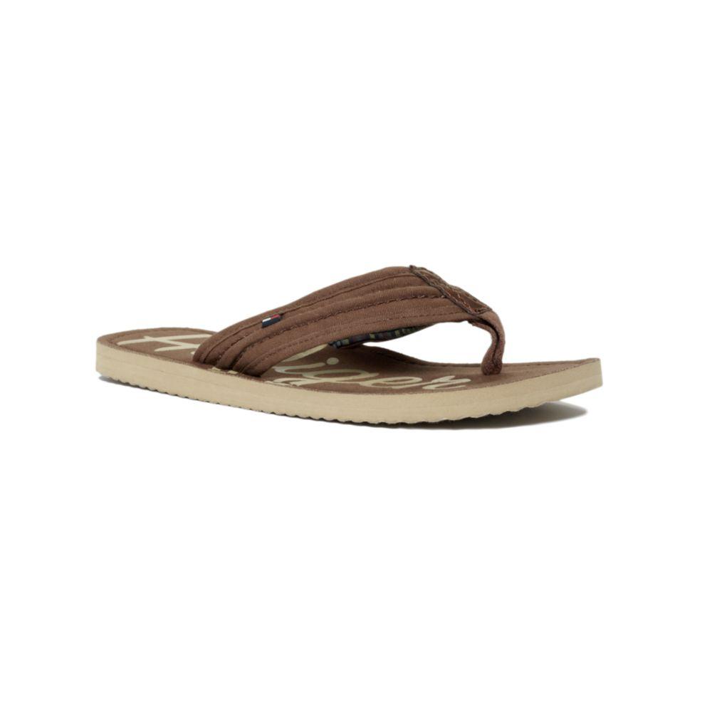 tommy hilfiger cameron flip flop in brown for men mustang. Black Bedroom Furniture Sets. Home Design Ideas
