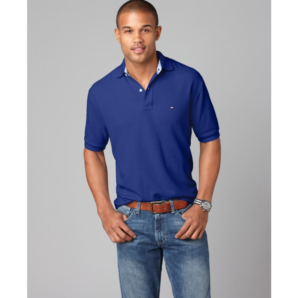 1d93746385401 Lyst - Tommy Hilfiger Slim Fit Ivy Polo Shirt in Blue for Men