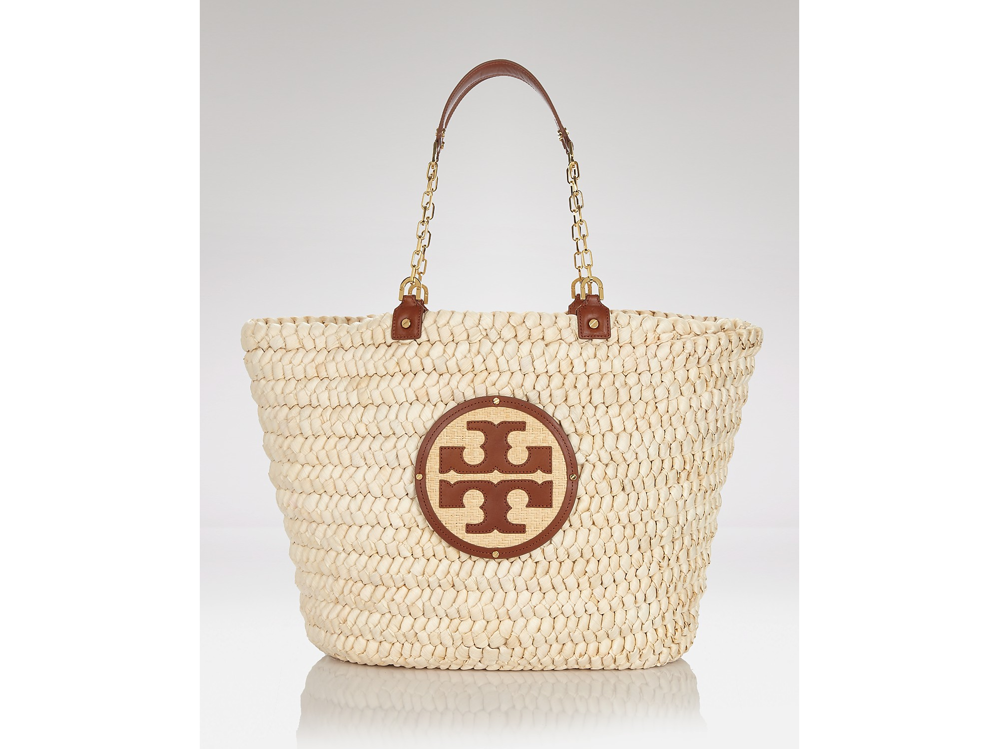 a6e906218d8 Lyst - Tory Burch Audrey Straw Large Tote in Natural