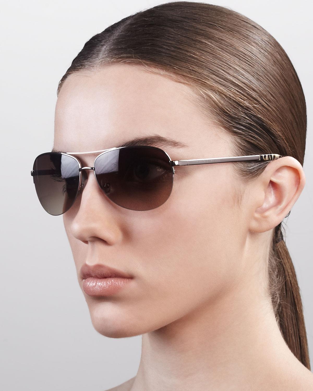 Kate Spade Polarized Aviator Sunglasses  kate spade new york valma aviator sunglasses in metallic lyst