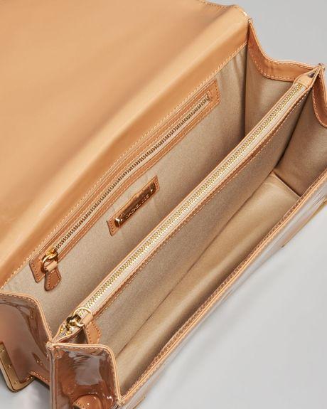 Rachel Zoe Charlotte Patent Leather Envelope Clutch in Beige (blush) - Lyst