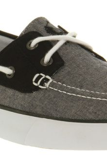 Ralph Lauren Lander Canvas Boat Shoe Grey Chambray - Lyst