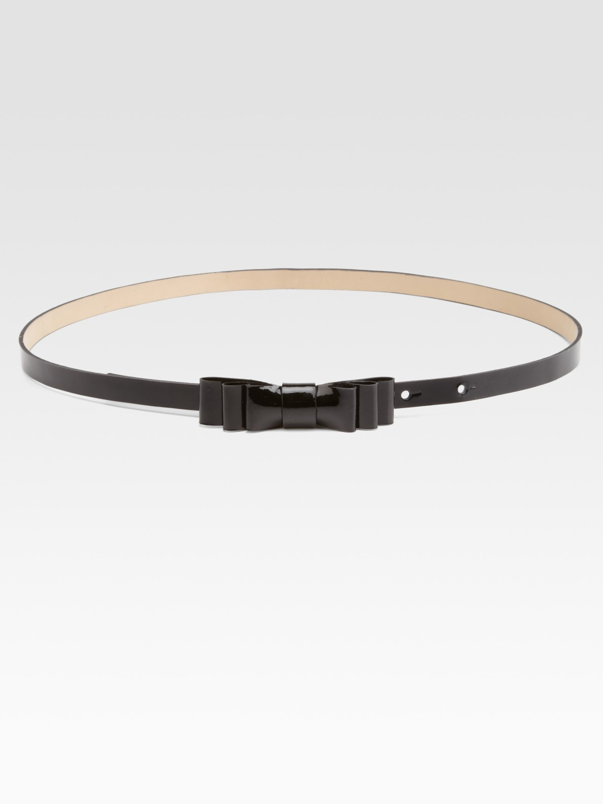 valentino patent leather bow belt in black lyst