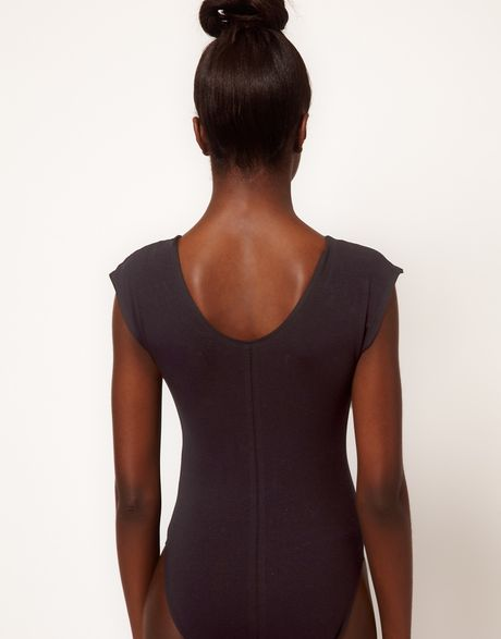 American Apparel Body With Mesh Panel In Black Lyst