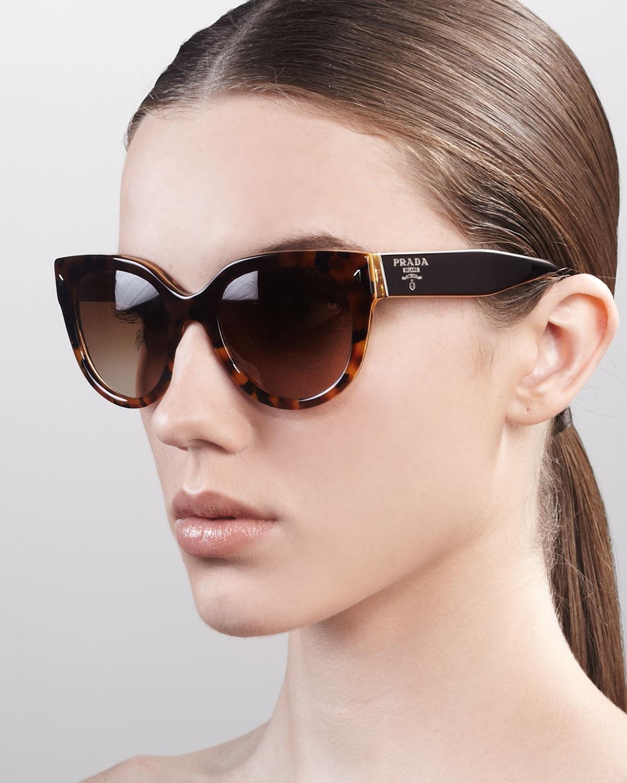Lyst Prada Heritage Cat Eye Sunglasses In Yellow