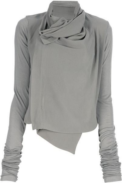 Rick Owens Asymmetric Top in Gray (grey)