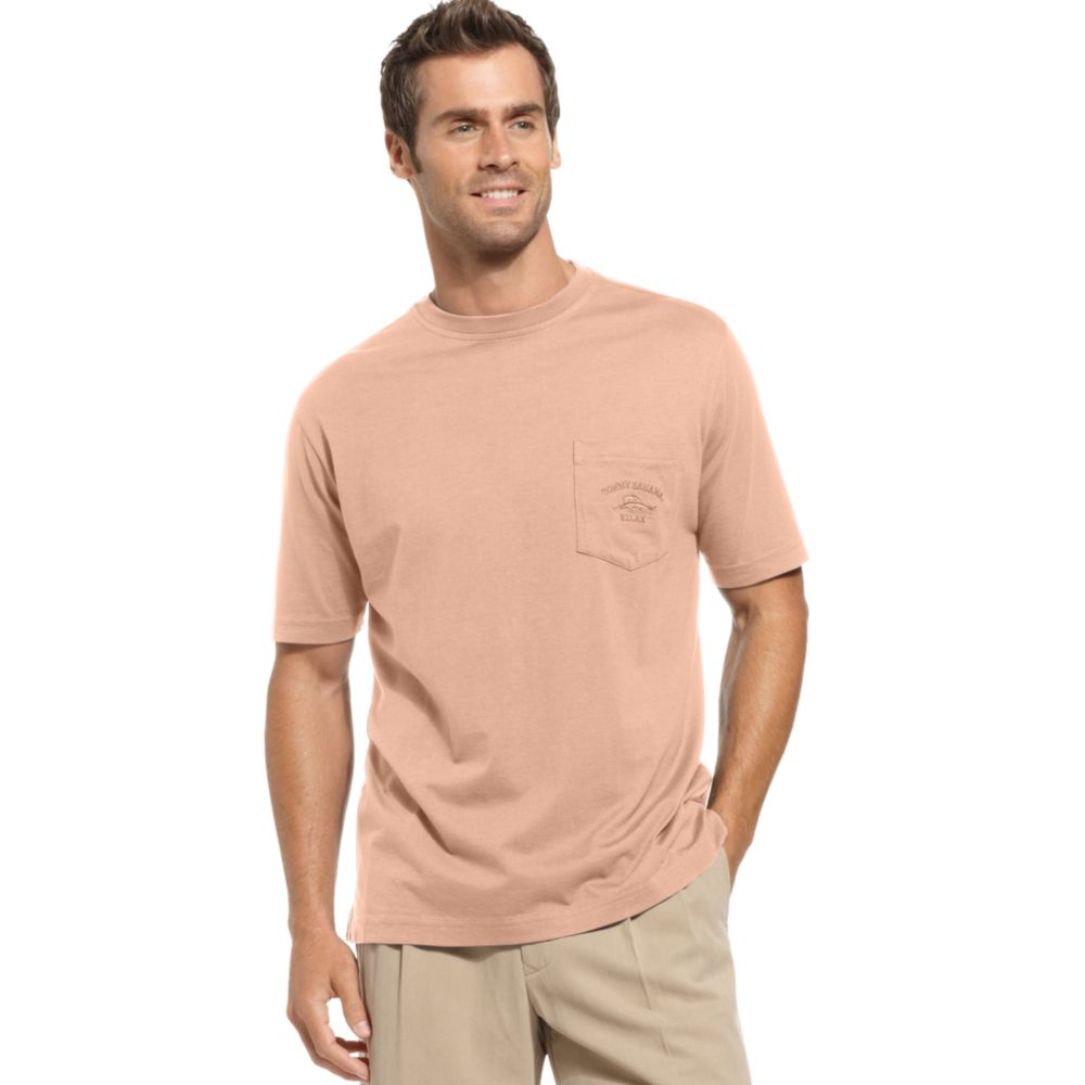 Tommy Bahama Bali High Tide Pocket T Shirt In Beige For