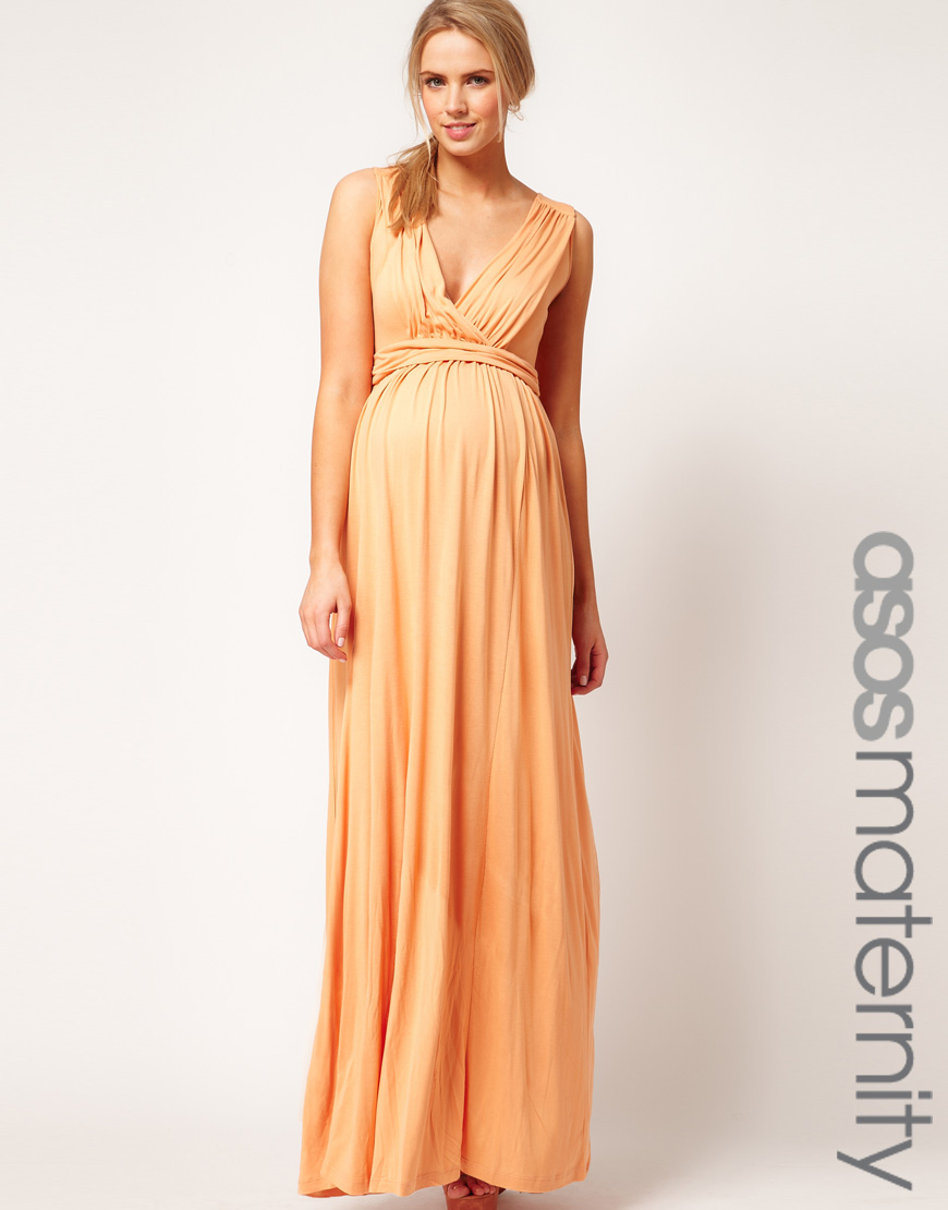 Asos asos maternity maxi dress in jersey with grecian drape detail gallery ombrellifo Gallery