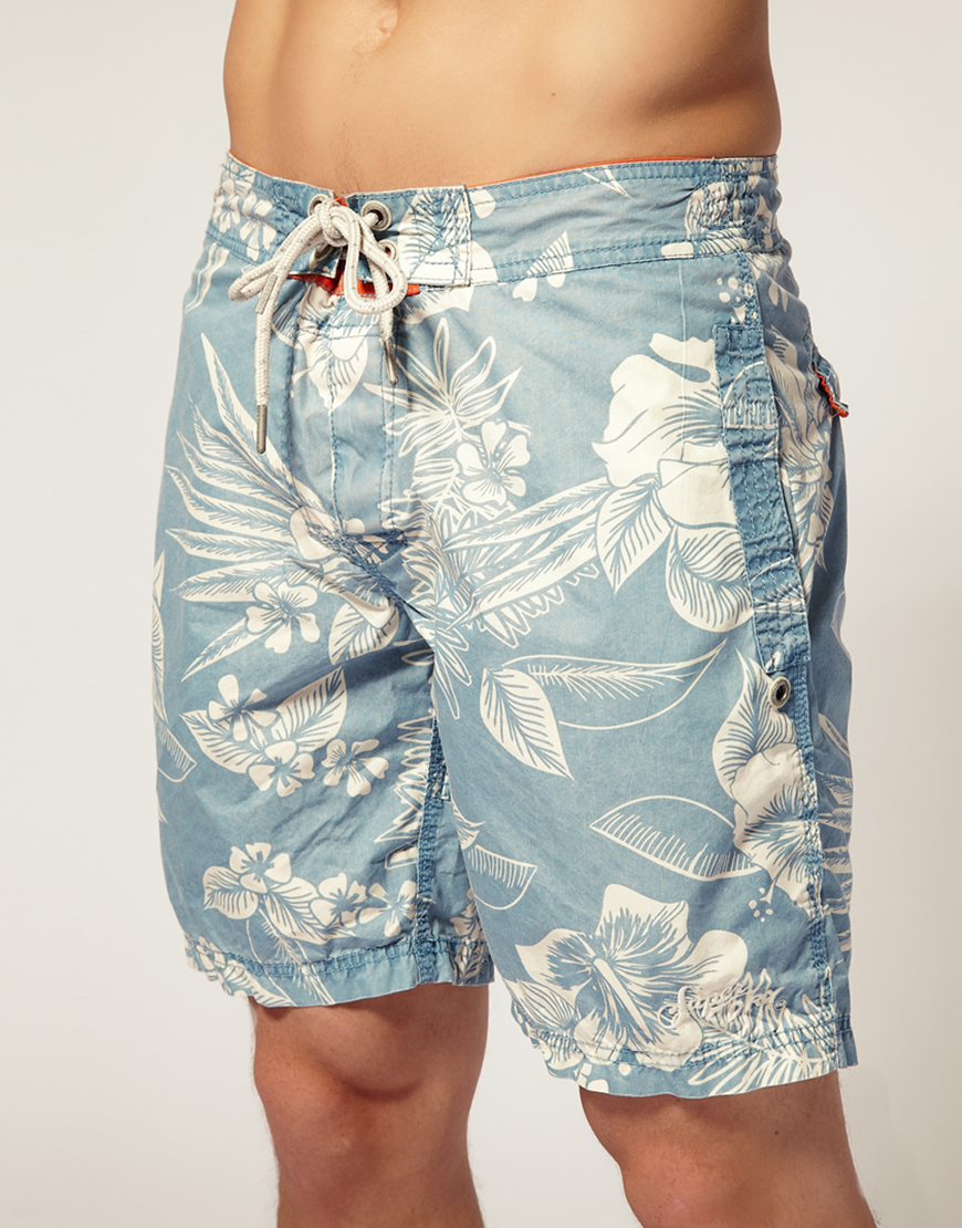 8aaf00ee32 Superdry Superdry Hawaiian Swim Shorts in Blue for Men - Lyst