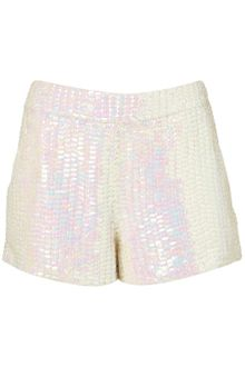 Topshop Premium Mermaid Sequin Shorts - Lyst