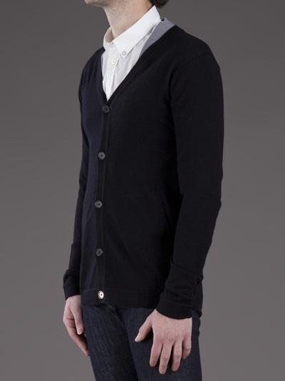 Adidas SLVR Wool Cardigan in Black for Men