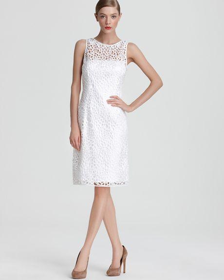 Adrianna Papell Mesh Sheath Dress Adrianna Papell Sheath Dress
